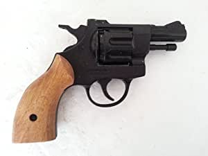 com : Blank Firing Gun Starter Pistol Snub Nose Revolver Olympic 6 BBM