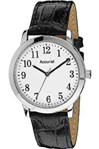4e7148692 Buy Accurist Gents Black Leather Strap Watch MS674WA from Amazon at £22.99