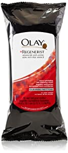 Olay Regenerist Micro-Exfoliating Wet Cleansing Cloths 30 Count (Pack of 3)