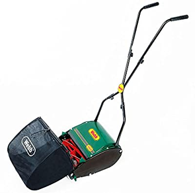 Webb Hand-Push Lawn Mower with 18 Litre Collection Bag.