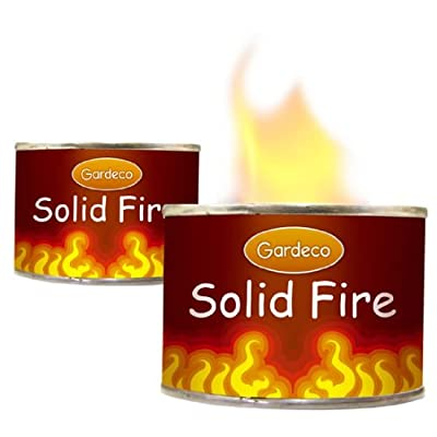 Fire Gel - 250ml Can - Burns 2 Hours - To Light Bbq Chiminea Fire Pit Brazier by Worldstores