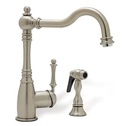 Grace Single-Handle Side Sprayer Kitchen Faucet in Satin Nickel