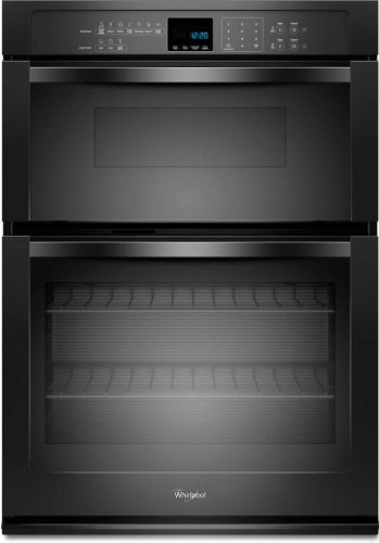 "Whirlpool Woc54Ec7Ab 27"" Black Electric Combination Wall Oven"