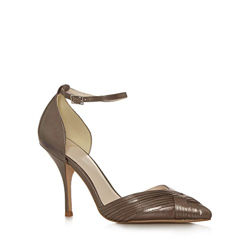 No. 1 <strong>Jenny Packham Womens Designer Taupe Metallic Pleated High Court <strong>Shoes