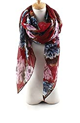 AngelShop Women Rich Peony Flower Long Scarf Shawl BYWJ