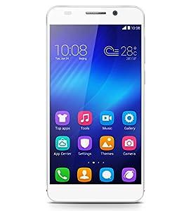 Honor 6 Smartphone débloqué 4G Cat 6  (Ecran : 5 pouces Full HD - 16 Go - Simple SIM  - Android 4.4 KitKat) Blanc