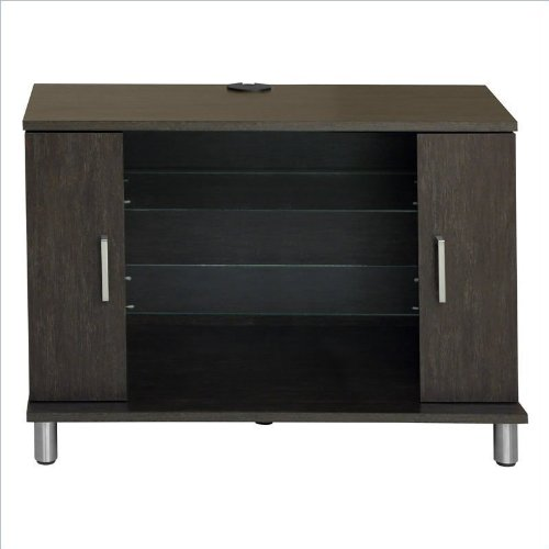 Cheap TV Stand in Brown w Brushed Nickel Handles (1176057Y)