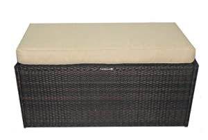 Deeco Consumer Products All Weather Wicker Belize Bench and Storage Trunk at Sears.com