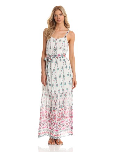 Yoana Baraschi Women's Age Of Aquarius Beaded Maxi, White/Multi, Medium