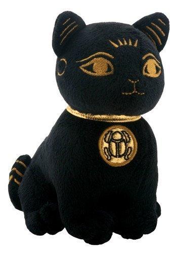"""Egyptian Smaller Black and Gold Bastet Cat Kitten Egyptian Stuffed Plush Doll-H 5.25"""""""
