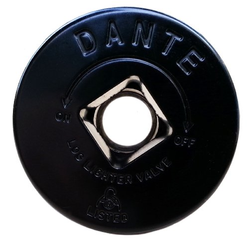 Dante Products FP.GV.FB Flat Black Floor Plate for Dante Globe Valve