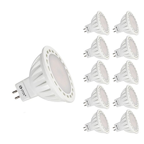 Le Pack Of 10 Units 4W Gu5.3 Mr16 Led Bulb, Equal To 40W Halogen Bulb, 12 Vac/Dc, Flood Beam Angle, Warm White
