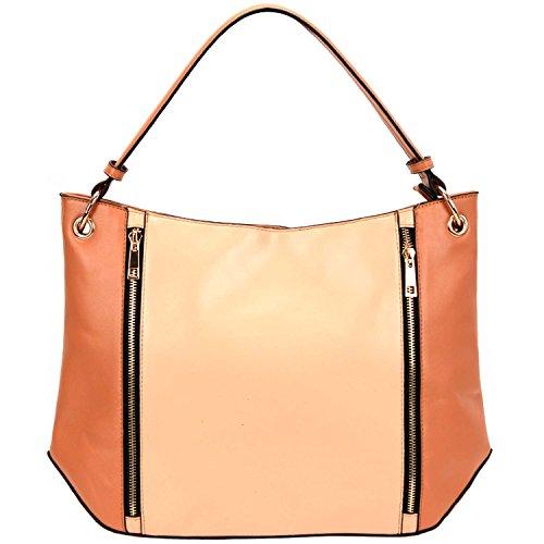fash-dual-tone-color-block-pattern-womens-shoulder-handbagcamelone-size