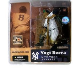 Yogi Berra New York Yankees Soft Cap Variant Chase Alternate McFarlane MLB Cooperstown Collection Series One Action Figure at Amazon.com