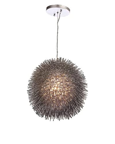 Varaluz Urchin 1-Light Pendant, Painted Chrome