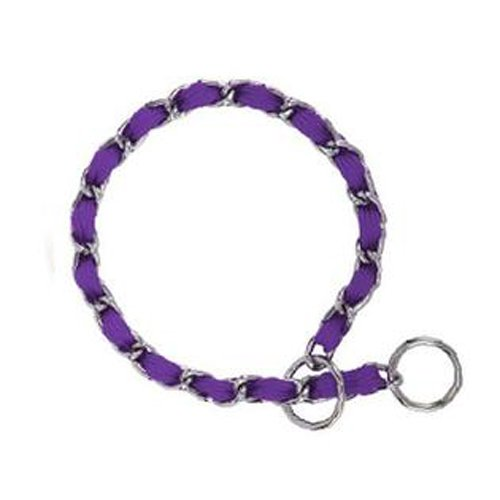 image Guardian Gear 16-Inch Steel Dog Choke Chain with Nylon Webbing, Ultra Violet