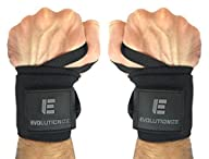 Wrist Wraps (18″, Professional Quality) by Evolutionize: Powerlifting, Bodybuilding, Weight Lifting…