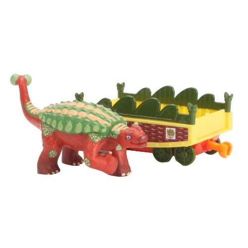 Learning Curve Dinosaur Train Collectible Dinosaur With Train Car - My Friends Have Armor: Hank - 1