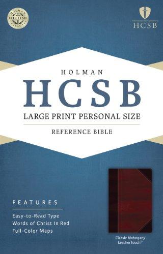 Holy Bible: Holman Christian Standard Bible, Classic Mahogany, Leathertouch, Personal Size Bible