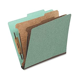 Globe-Weis Classification Folder, Legal Size, 1 Divider, Green, (PU44 GRE)