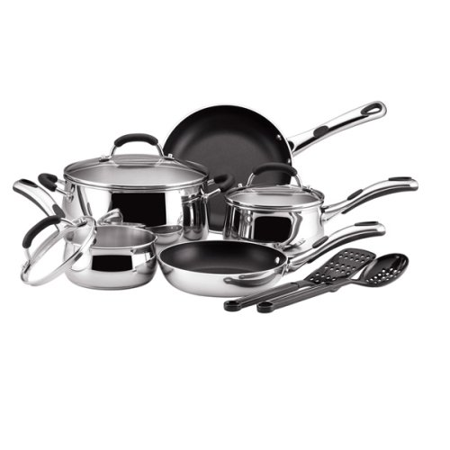 Buy Farberware Bell-Shaped 10-pc. Cookware Set – Stainless Steel