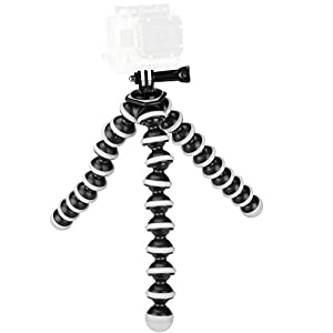 Sabrent Flexible Tripod for standard Tripod mount (GoPro mount adapter included) (GP-TRPD)