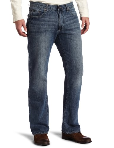 Calvin Klein Jeans Men's Washed Sky Bootcut Jean, Light Wash, 32x30