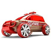 Automoblox X9 Fire SUV, Red - Mix and Match Vehicle Construction Toy