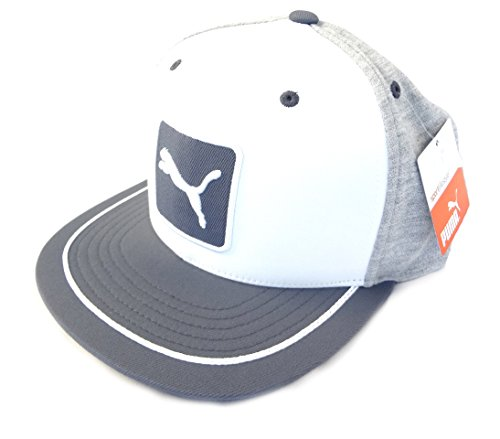 где купить  NEW Puma Cat Patch 110 3 Color Heather Gray/White Adjustable Hat/Cap  дешево