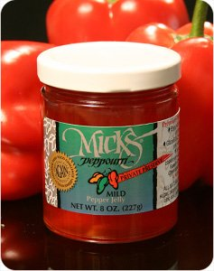 "Mick's Peppouri Mild Pepper Jelly- ""Private Preserve""- 8oz.(227gr) from Mick's Peppourri"