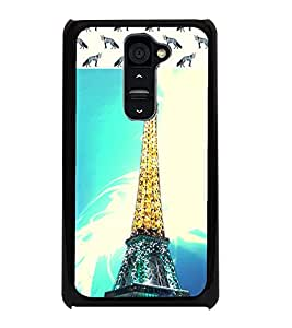 PrintDhaba Tower D-6064 Back Case Cover for LG G2 (Multi-Coloured)