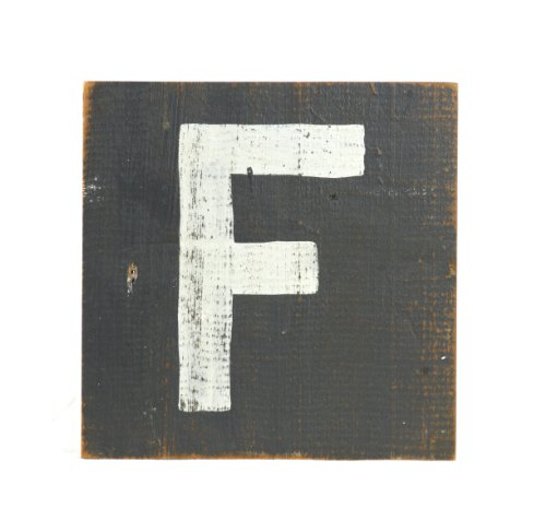 ZENTIQUE Wooden Letter, Small, Monogrammed F - 1