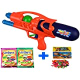 Darling Toys Holi Combo Pack (1 Water Gun+2 Herbal Gulal+1 Pack Balloon) - B01CA8L9BI