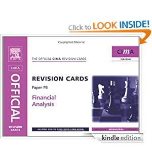 CIMA Revision Cards Financial Analysis (CIMA Managerial Level 2008) Catherine Gowthorpe