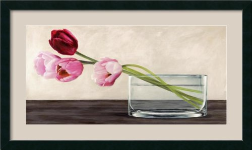 Modern Composition, Tulips by Shin Mills Framed
