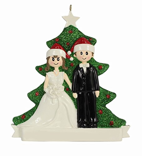 MAXORA Wedding Couple Personalized Ornament 2016