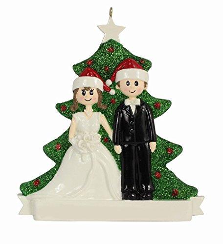MAXORA Wedding Couple Personalized Ornament 2016