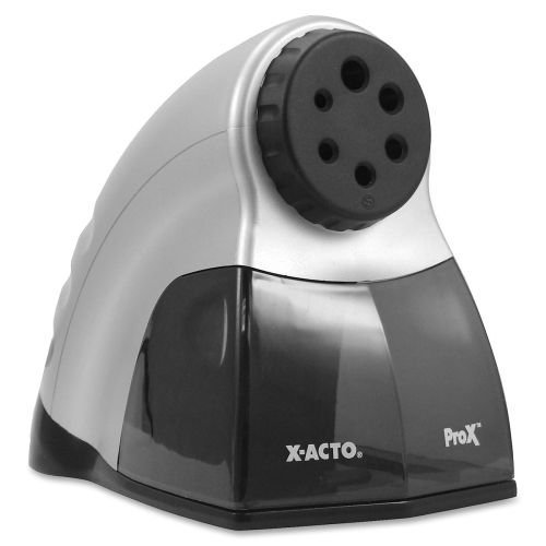 Prox Electric Pencil Sharpener, Silver/Black By Elmers (Catalog Category: Paper, Pens & Desk Supplies / Pencil Sharpeners)