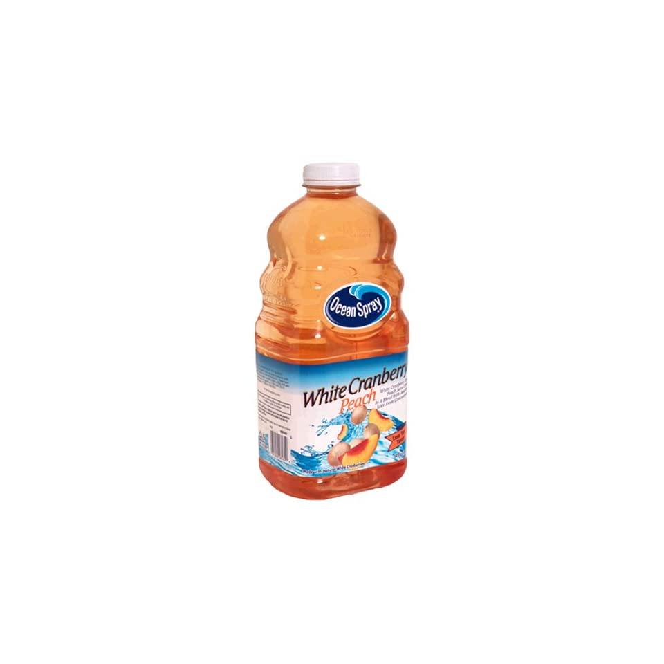 Ocean Spray Juice Drink, White Cranberry Peach , 64 fl oz