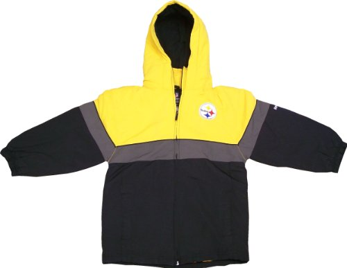Reebok Pittsburgh Steelers Hooded Full Zip Toddler Winter Jacket ... 2404c877d