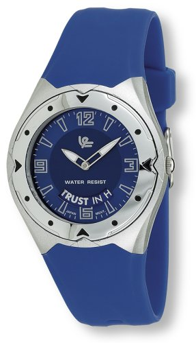 "Avalon Christian Inspirational Watch with Message, ""The Best Plans in Life Begin and End with God"", blue"