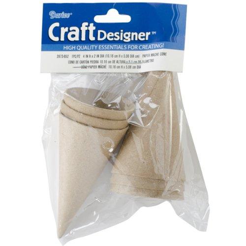 Paper Mache Cone - 4 X 2 Inches - 6 Pieces