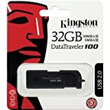 Kingston 32GB DataTraveler 100 USB Flash Drive DT100G2/32GBZ