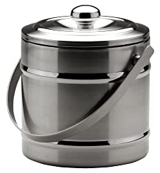 MIU France Stainless Steel Double-Wall Ice Bucket, Silver