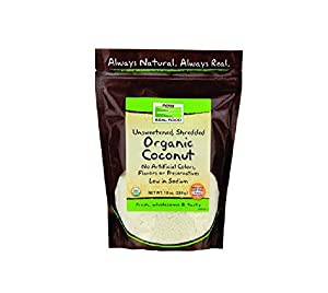 Now Foods Organic Shredded Unsweetened Coconut 10 oz