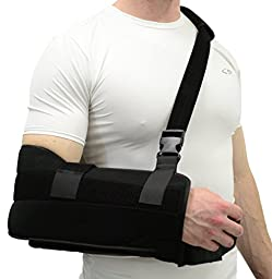 ITA-MED Super Arm Sling/Shoulder Immobilizer with Abduction Pillow, Small