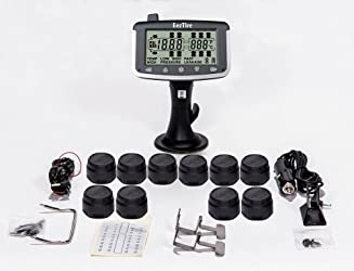 EEZTire Tire Pressure Monitoring System – 10 Sensors (TPMS) – FREE U.S. SHIPPING AT CHECK OUT