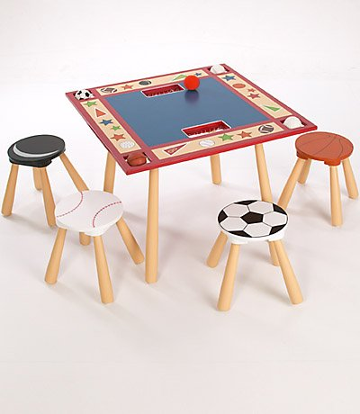 Levels of Discovery All Star Child's Table and 4 Stool Set - 1