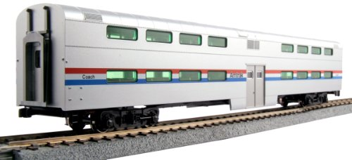 Kato USA Model Train Products Pullman Amtrak Phase III Bi-Level 4-Window Coach (Amtrak Train Model compare prices)