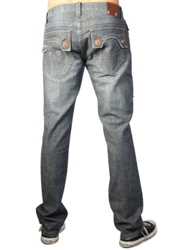 Laguna Beach - Huntington Beach Mens Designer Jeans, stonewashed blue W31